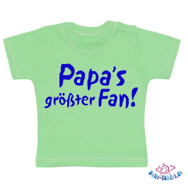 baby tshirt bedruckt mit papas groesster fan. Black Bedroom Furniture Sets. Home Design Ideas