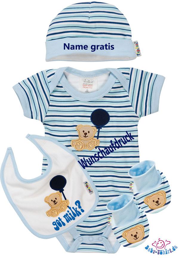 timeless design 18466 53534 Supergroßes Erstlings Geschenkset mit Babydecke bedruckt mit ...